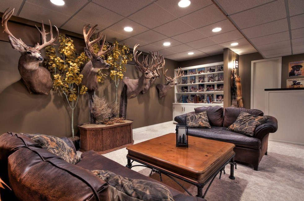 Man Cave Design Ideas For Hunting Enthusiasts